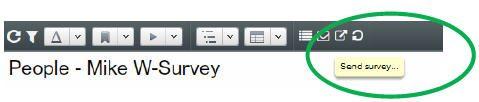 OrgVue - Send surveys