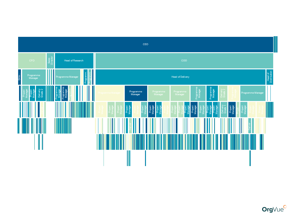 Orgvue HR Analytics Icicle Colour by Performance