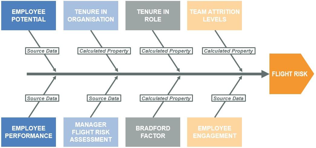 OrgVue - Flight Risk - Fishbone Diagram